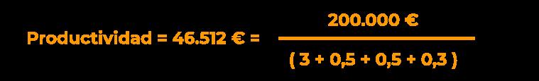 Ejemplo de cálculo de productividad