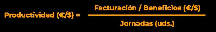 Fórmula para calcular la productividad